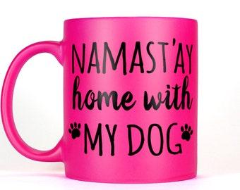 Pink Dog Mug Dog Lover Gift for Her Funny Dog Mom Coffee Mug