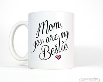 Gift for Mom from Daughter   Bestie Mom Mug   Mom Birthday Gift for Mom from Son   Mom Gift from Daughter   Mother's Day Gift