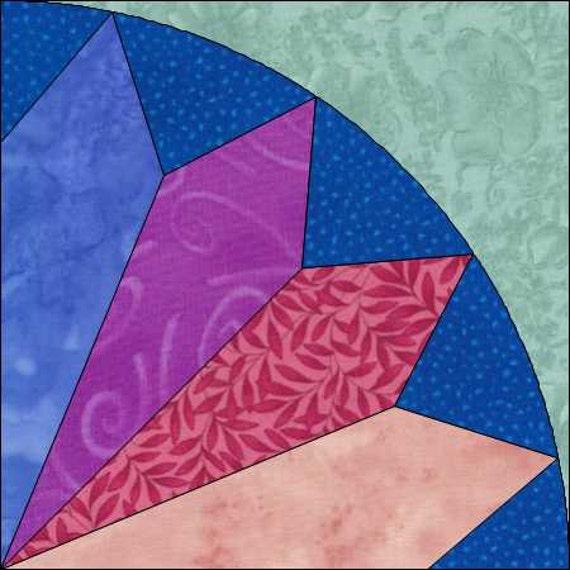 4 Point Fan Block Fan Pattern Fan Quilt Pattern Pieced Etsy