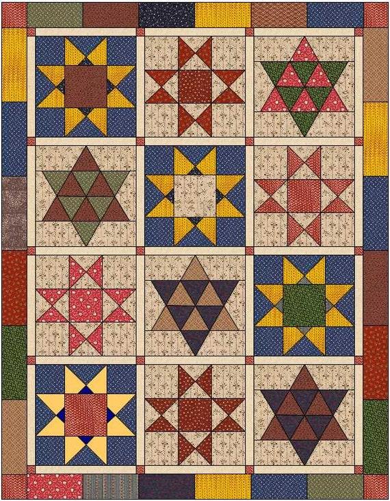 Quilt Pattern Civil War Quilt Reproduction Quilt Civil Etsy Enchanting Civil War Quilt Patterns