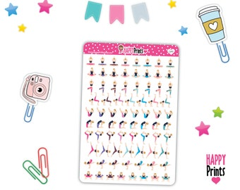 HP  049) -- Yoga Stickers, Planner Stickers