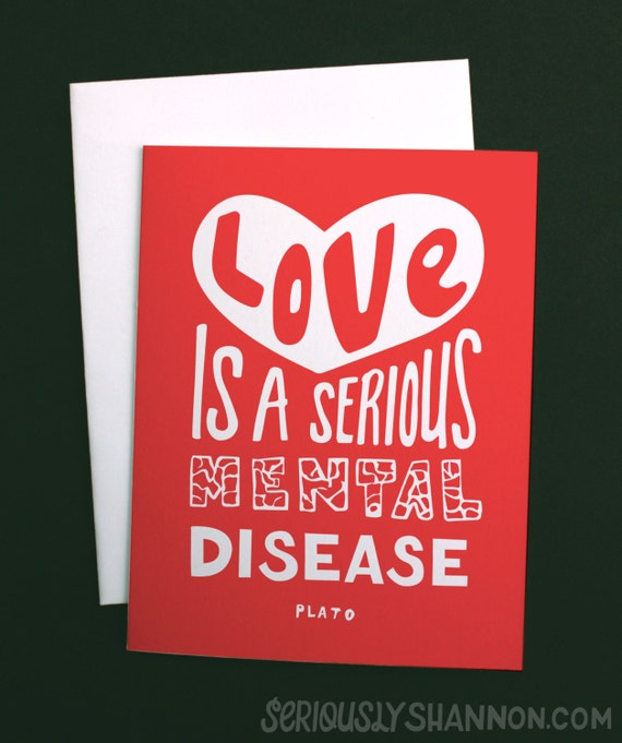 Valentine's Day Card Funny Anniversary Card Love Is A Etsy Extraordinary Funny Love Quotes For Valentines Day