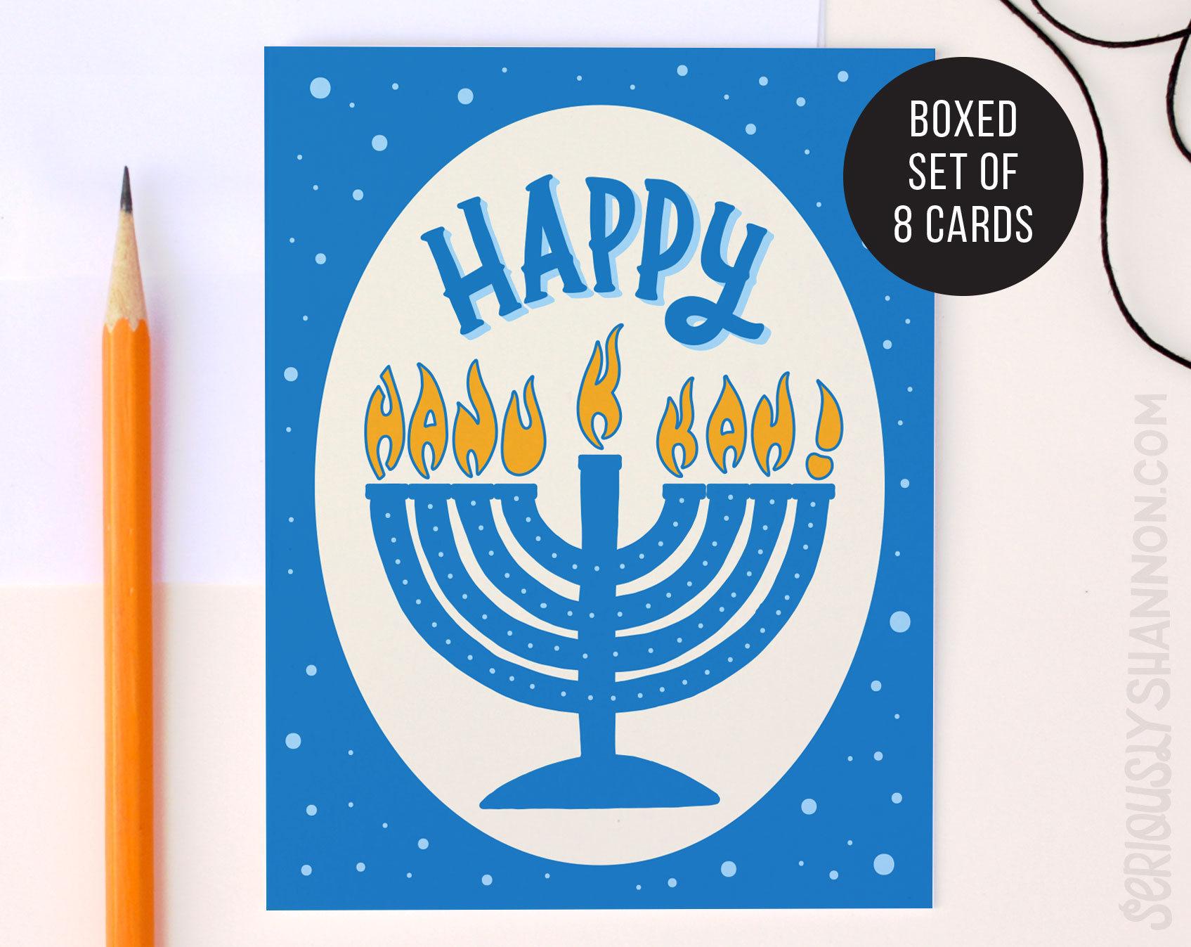 Happy Hanukkah Cute Hanukkah Cards Unique Hanukkah Cards Etsy