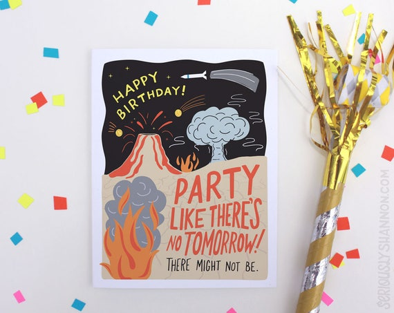 Funny Birthday Card Cool Science