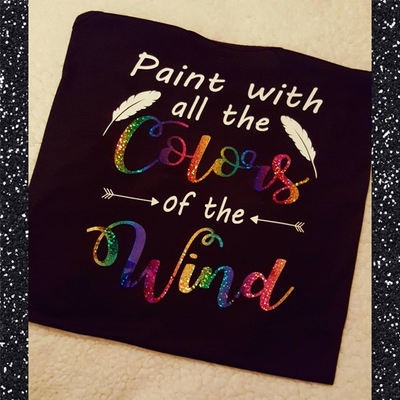 Disney S Pocahontas Inspired Glitter Tee Paint With All The Colors Of The Wind