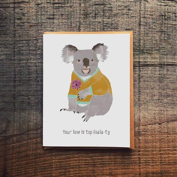 Your Love Is Top Koala Ty Koala Bear Mother S Day Card Etsy
