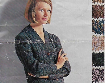 1b042232cd8be Original Vintage Knitting Pattern. Women s Cable Jacket for DK Knitting to  fit 34