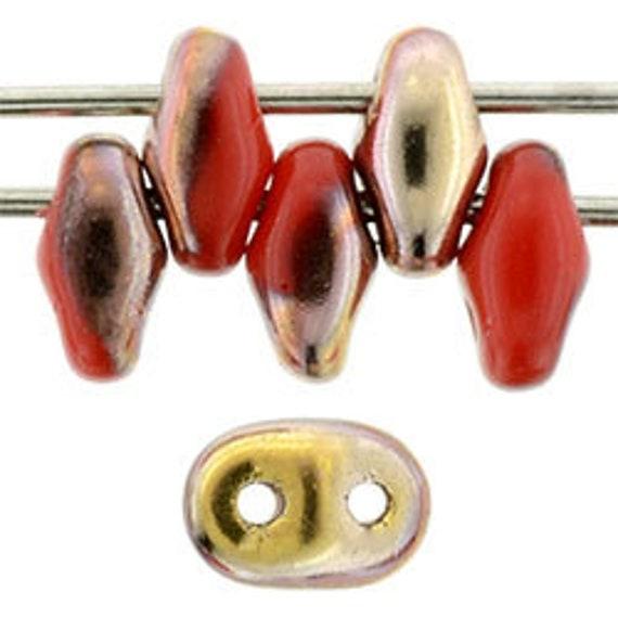 CHOOSE COLOR Czech Glass 50 pcs Ilos® par Puca® Beads 5x5 mm