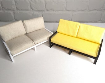 Dolls sofa couch / dolls modern loft furniture  1:12