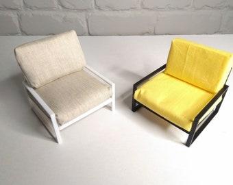 Dolls sofa armchair / dolls modern loft furniture chair 1:12