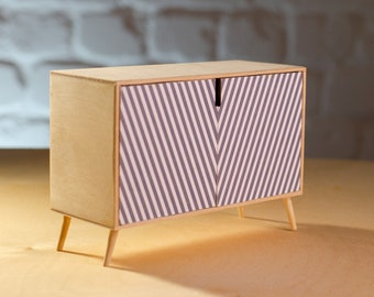 Dollhouse furniture chest of drawers 1/6 dresser cabinet modern classic exclusive handmade / Blythe Barbie Momoko