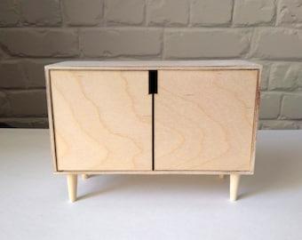 Dollhouse dresser DIY / modern dolls furniture 1/6 handmade / Blythe Barbie Momoko