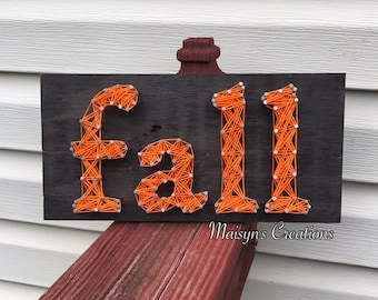 Fall String Art Sign | READY-TO-SHIP