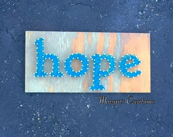 Hope String Art Sign | MADE TO ORDER