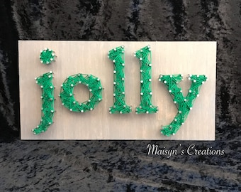Jolly String Art Sign | READY TO SHIP