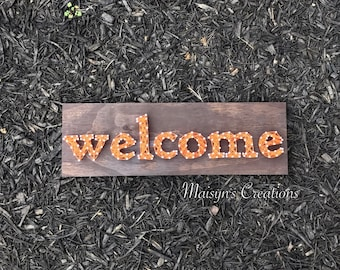 Welcome String Art Sign | MADE TO ORDER