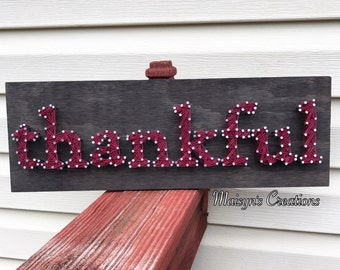 Thankful String Art Sign | MADE TO ORDER
