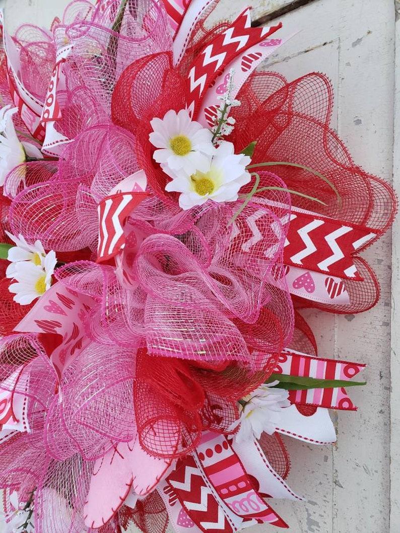 SpringValentine Deco Mesh Wreath