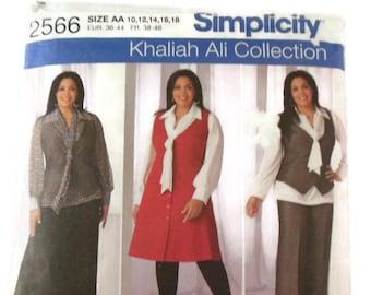 Khaliah Ali Collection Simplicity Pattern 2566 Uncut Size AA 10-18 Womens Misses