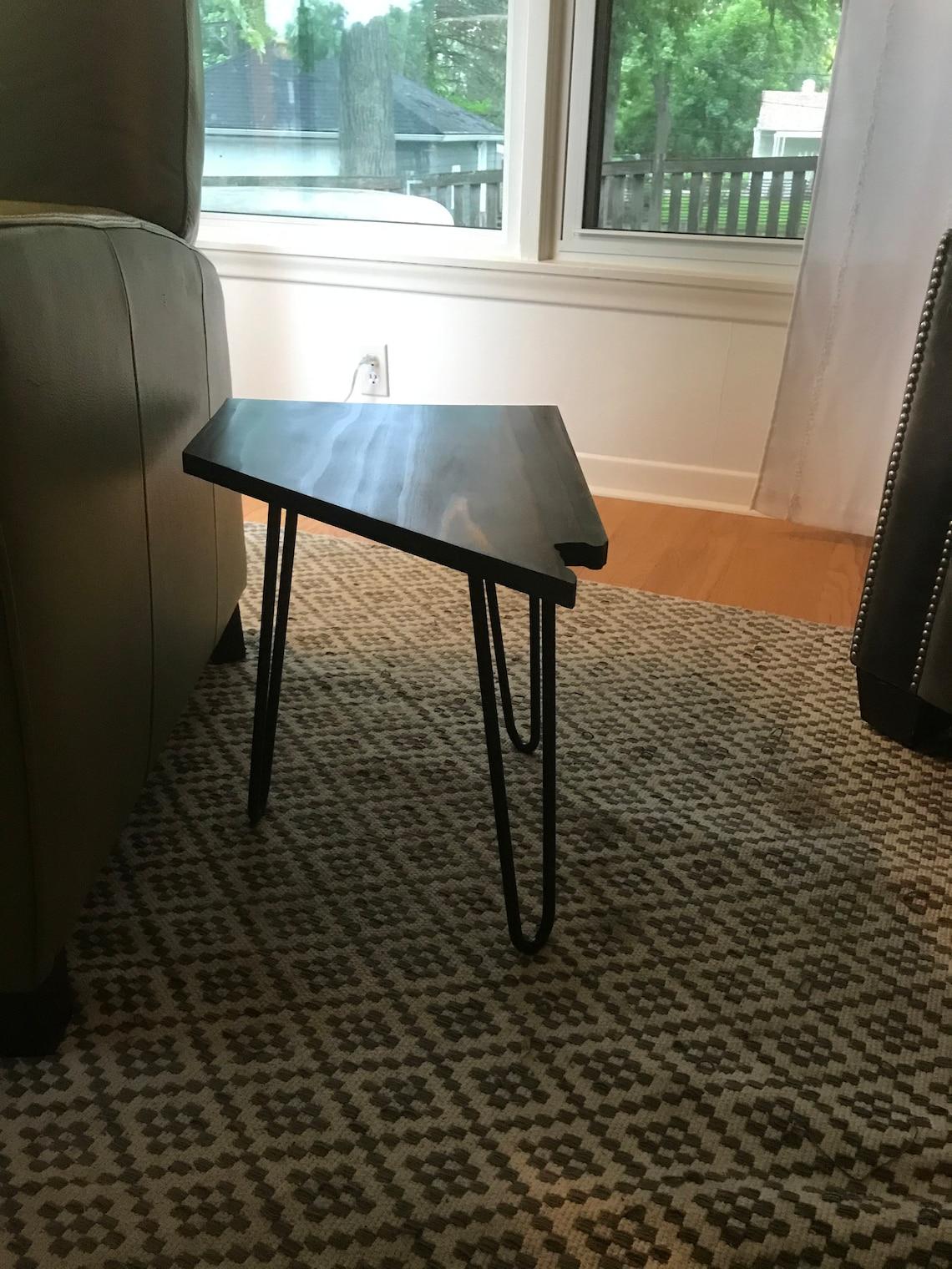 Wood Nevada Shaped Side Table