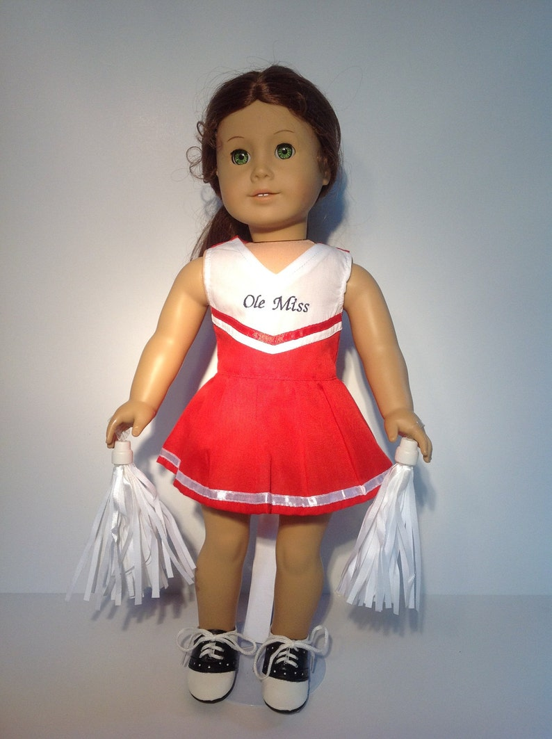5d4681376a0 Ole Miss Cheer Outfit with Pom Poms fits 18