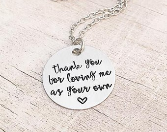 Stepmom Gift Wedding - Mother's Day Gift for Stepmom - Stepmom Wedding Gift - Thank you for Loving me as Your Own