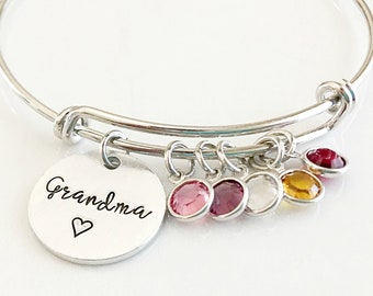 Grandma Birthstone Bracelet - Mother's Day Gift for Grandma - Grandma Gift - Birthstone Bracelet - Grandma Bracelet - Grandma Jewelry