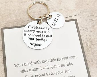 Father of the Groom Gift - Gift from Bride - Father of the Groom - Father of the Groom Keychain - Personalized Father of the Groom Gift