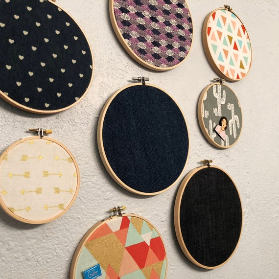 Displayed In This Embroidery Hoop Is A Fantastic: Enamel Pin Badge Display Holder Fabric Embroidery Hoop Now