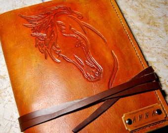 Personalized Journal Leather, Horse Journal, Gift Leather Notebook, Handmade Journal, A5 Journal, Gift for Her, Gift for Him, Leather Diary