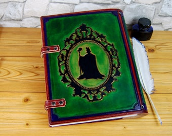 Large Custom Personalized Leather Book Maleficent Book Gift Journal Notebook Diary TiVergy Book