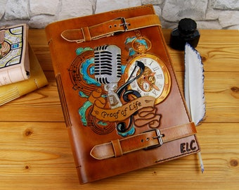 Large Leather Journal Recipes Book Notebook Diary Travel Book Gift Custom Journal Personalized Notebook TiVergy Journal
