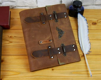 Personalized Leather Journal, Handmade Leather Journal, Vintage Journal, Diary, Notebook, Brown leather Journal, Gift for him, Gift for her