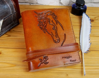 Gift Leather Journal, Personalized Journal, Medieval Journal, Diary, Notebook, Brown leather Journal, Personalized Gift, TiVergy Journal