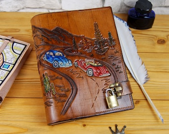 Leather Journal Custom Personalization A5 Journal for order Leather Book Notebook Diary Personalized Gift TiVergy Book
