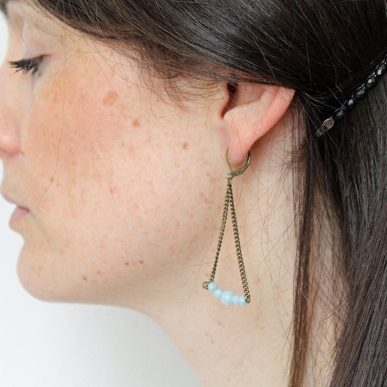 Pemberley jewelry earrings  earrings  jewelry  Bohemian jewelry Gemstones /& brass 8 colors
