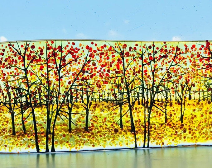 Fused glass Autumn wave
