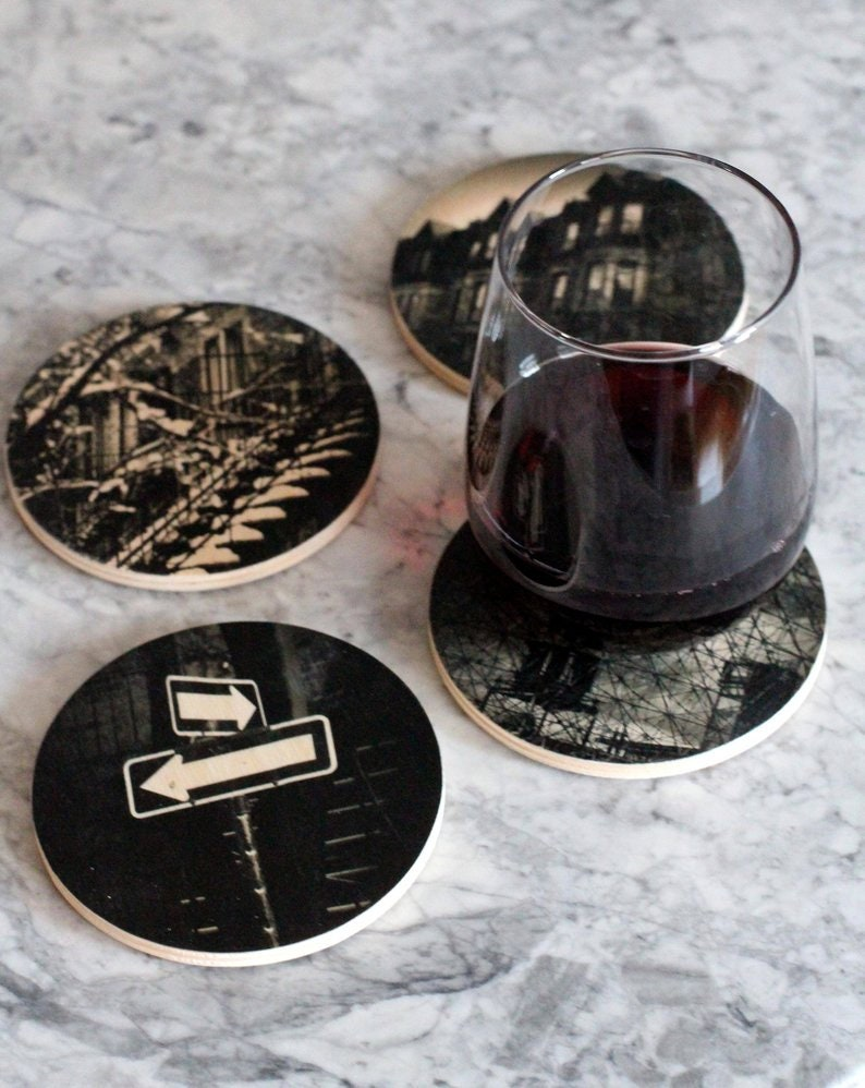 Father's day gift  Assorted wood coasters  Montreal image 0