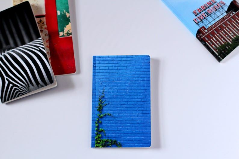 Montreal photography  Blank journal  Lined notebook  Blue image 0