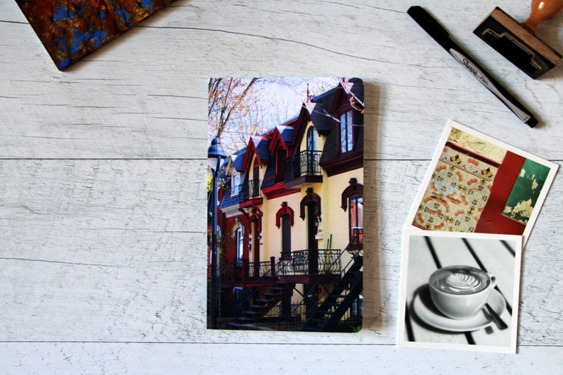 Custom notebook  Montreal photography  Colorful stationery  image 0