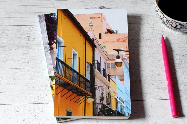 Colorful street notebook  Boho design  Custom notebook  image 0