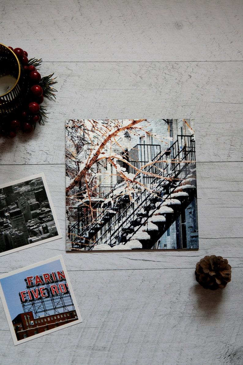 Aluminum metal art  Christmas gift set for him  Montreal image 1