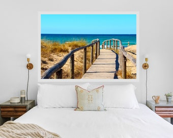 Puglia Italy beach photography - Beach landscape - Ocean photography print - Mediterranean sea poster - Living room decor - Large wall art