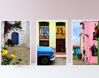 CUSTOM gallery wall - Personalized print set - Gallery wall decor - Fine art print set - Colorful travel photography - Large travel posters