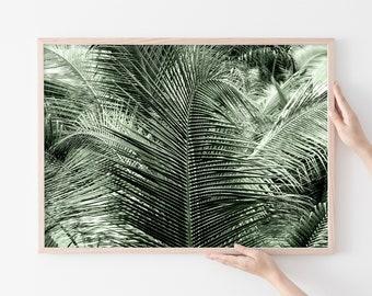 Palm tree wall art - Plant art print - Hygge boho decor - Large travel poster - Tropical art print - Modern minimalist decor - Botanical art