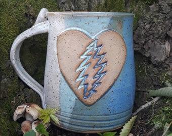 Forever Grateful Mug- Blue and White