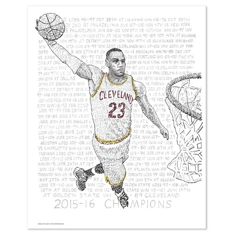 3da50b00777 LeBron James Wall Art Poster Print Cleveland Cavaliers Art