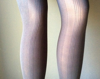 f23f6ebdb Gray Tights With Texture Stripe Design