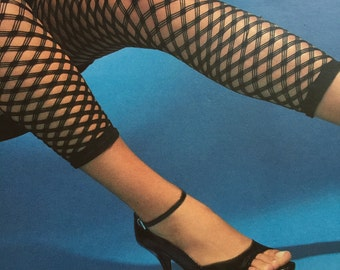 e409325505d7ff Fishnet Capri Leggings Double Fishnet Capri Capri Dancewear Multi Color  Legging Orange Leggings Black Footless Tight Black Beige Footless
