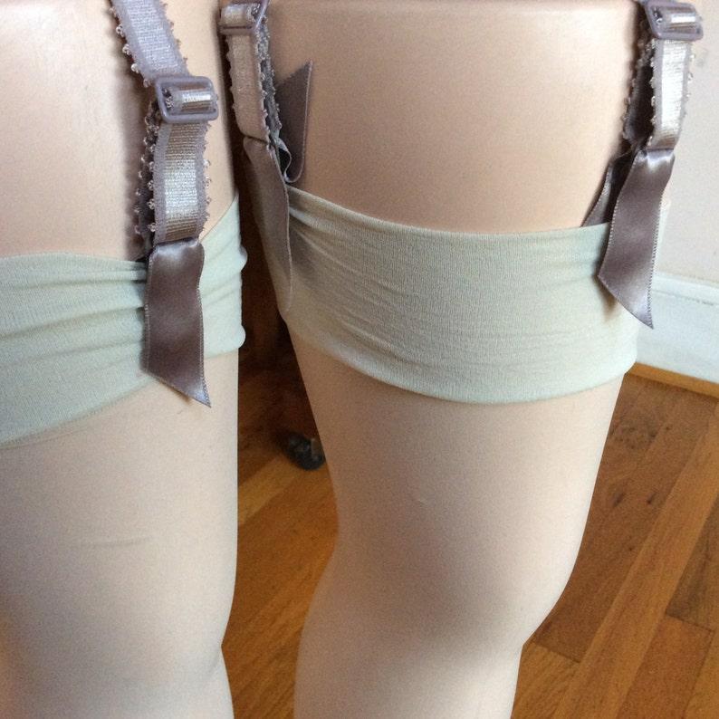 329aee53833 Cream Stockings for Garter Belt 2pc Bridal Garter Belt